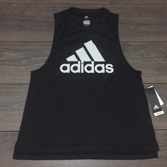 meet d5750 274e8 (NEW) Adidas Trefoil Climalite Black Tank Top